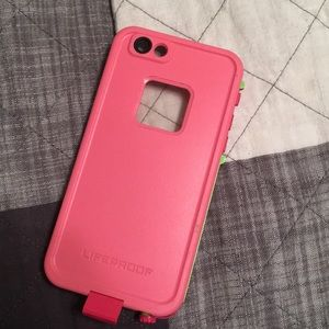 Pink life proof case